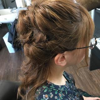 ナチュラル ヘアアレンジ ロング ルーズ ヘアスタイルや髪型の写真・画像