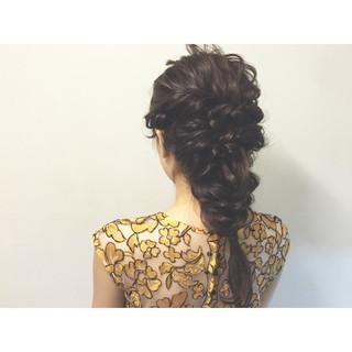 セミロング 夏 ショート ヘアアレンジ ヘアスタイルや髪型の写真・画像 ヘアスタイルや髪型の写真・画像