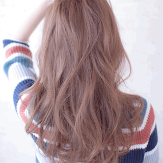 暗髪 ストリート グラデーションカラー ゆるふわ ヘアスタイルや髪型の写真・画像