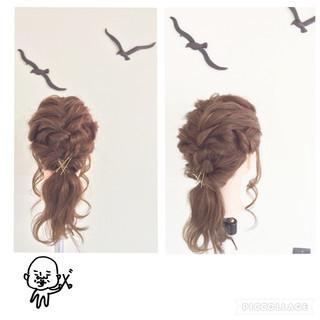 ヘアアクセ ヘアピン くるりんぱ ヘアアレンジ ヘアスタイルや髪型の写真・画像 ヘアスタイルや髪型の写真・画像