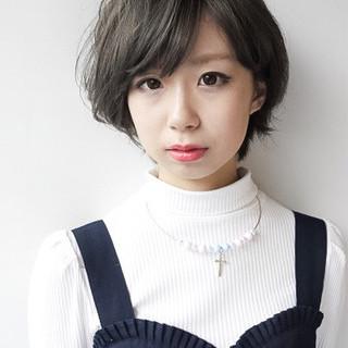 冬 小顔 ガーリー 似合わせ ヘアスタイルや髪型の写真・画像