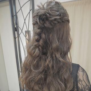 ヘアアレンジ エレガント 結婚式 ハーフアップ ヘアスタイルや髪型の写真・画像 ヘアスタイルや髪型の写真・画像