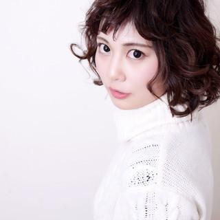 色気 フェミニン ボブ 冬 ヘアスタイルや髪型の写真・画像