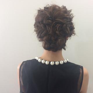 ヘアアレンジ 女子会 結婚式 セミロング ヘアスタイルや髪型の写真・画像 ヘアスタイルや髪型の写真・画像