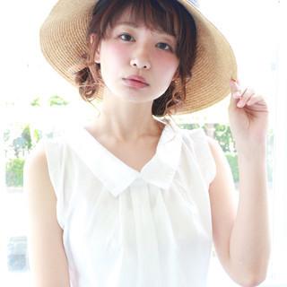 簡単ヘアアレンジ 外国人風 ナチュラル ピュア ヘアスタイルや髪型の写真・画像