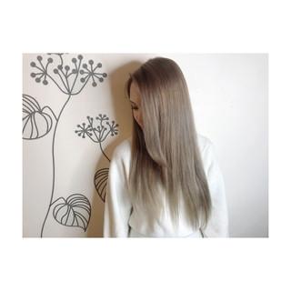 ナチュラル 外国人風カラー エアータッチ 艶髪 ヘアスタイルや髪型の写真・画像