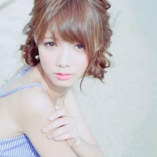 モテ髪 ナチュラル フェミニン ヘアアレンジ ヘアスタイルや髪型の写真・画像