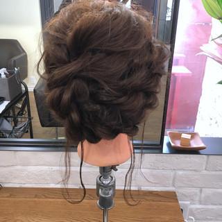ミディアム ヘアアレンジ 結婚式 謝恩会 ヘアスタイルや髪型の写真・画像