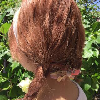 ショート 簡単ヘアアレンジ 大人かわいい ハーフアップ ヘアスタイルや髪型の写真・画像