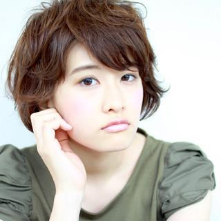 小顔 パーマ 似合わせ モテ髪 ヘアスタイルや髪型の写真・画像