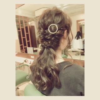 ハーフアップ ショート ロング ヘアアレンジ ヘアスタイルや髪型の写真・画像