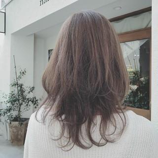 前髪あり セミロング パーティ デート ヘアスタイルや髪型の写真・画像