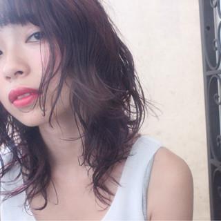 ウェーブ アンニュイ 透明感 ナチュラル ヘアスタイルや髪型の写真・画像