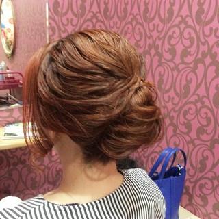 上品 エレガント 夜会巻 結婚式 ヘアスタイルや髪型の写真・画像
