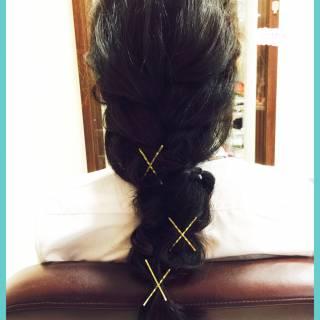 ヘアピン 簡単ヘアアレンジ ヘアアレンジ ヘアアクセ ヘアスタイルや髪型の写真・画像 ヘアスタイルや髪型の写真・画像