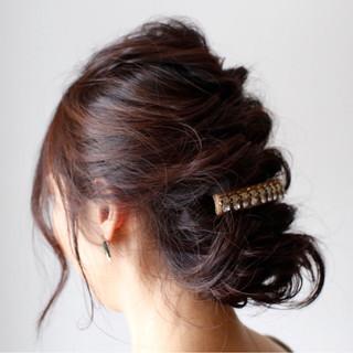 フェミニン くるりんぱ ヘアアレンジ 簡単ヘアアレンジ ヘアスタイルや髪型の写真・画像 ヘアスタイルや髪型の写真・画像