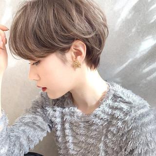 デートヘア ショート ナチュラル デート ヘアスタイルや髪型の写真・画像