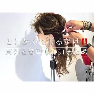 ヘアアレンジ 女子会 デート ナチュラル ヘアスタイルや髪型の写真・画像