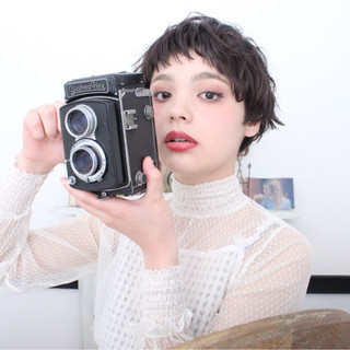 簡単ヘアアレンジ ナチュラル アッシュ ショート ヘアスタイルや髪型の写真・画像 ヘアスタイルや髪型の写真・画像