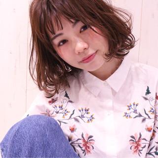 パーマ ピンクブラウン デート モテ髪 ヘアスタイルや髪型の写真・画像