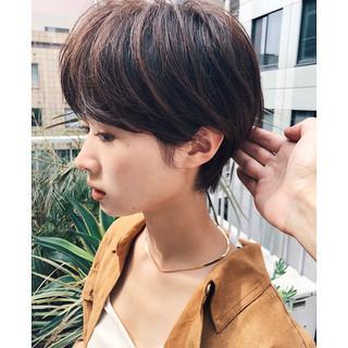 ショート マッシュショート ショートボブ ショートヘア ヘアスタイルや髪型の写真・画像