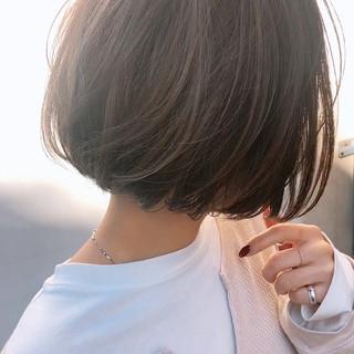 ナチュラル ショートボブ ミニボブ 外国人風カラー ヘアスタイルや髪型の写真・画像