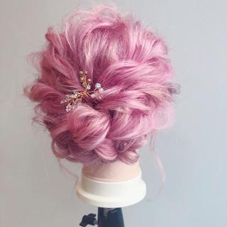 小顔ヘア ヘアアレンジ ナチュラル 簡単ヘアアレンジ ヘアスタイルや髪型の写真・画像