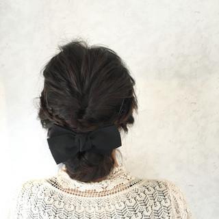 黒髪 フェミニン ショート ボブ ヘアスタイルや髪型の写真・画像