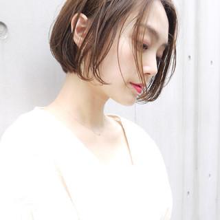 大人女子 オフィス ショートボブ ボブ ヘアスタイルや髪型の写真・画像