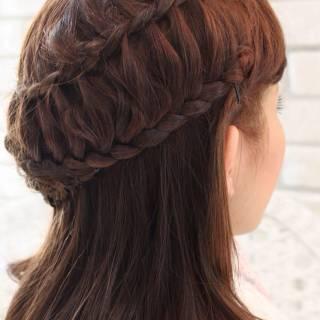 ヘアアレンジ 編み込み コンサバ モテ髪 ヘアスタイルや髪型の写真・画像