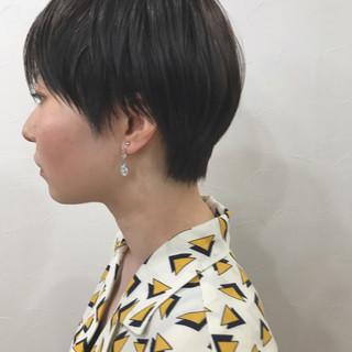 マッシュショート ショートカット ショートヘア ショート ヘアスタイルや髪型の写真・画像