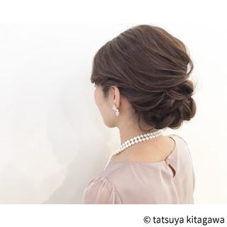 外国人風 結婚式 上品 アップスタイル ヘアスタイルや髪型の写真・画像