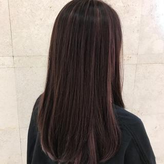 ハイライト ツヤ髪 黒髪 モード ヘアスタイルや髪型の写真・画像