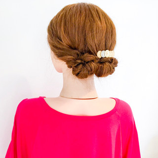 結婚式 簡単ヘアアレンジ オフィス 涼しげ ヘアスタイルや髪型の写真・画像