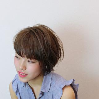 ショート アンニュイ デート リラックス ヘアスタイルや髪型の写真・画像