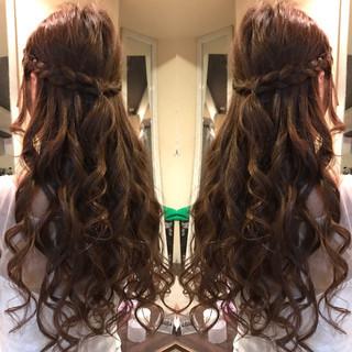 ロング ヘアアレンジ まとめ髪 編み込み ヘアスタイルや髪型の写真・画像 ヘアスタイルや髪型の写真・画像
