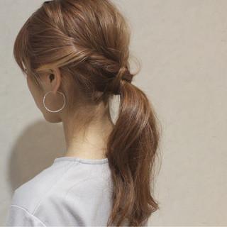 セミロング ヘアアレンジ 大人かわいい ゆるふわ ヘアスタイルや髪型の写真・画像