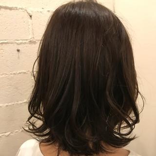 女子力 ナチュラル セミロング ゆるふわ ヘアスタイルや髪型の写真・画像