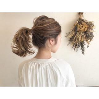 ハイライト 簡単ヘアアレンジ アウトドア ナチュラル ヘアスタイルや髪型の写真・画像
