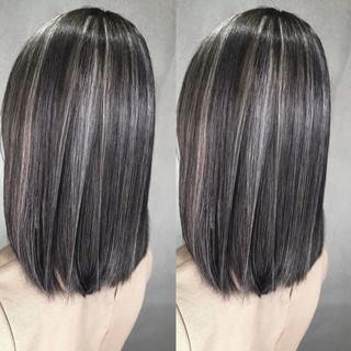 グラデーションカラー 外国人風 ハイライト 黒髪 ヘアスタイルや髪型の写真・画像