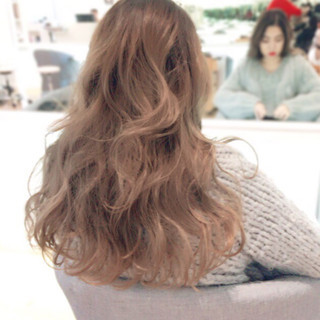 外国人風カラー ハイライト ロング 外国人風 ヘアスタイルや髪型の写真・画像