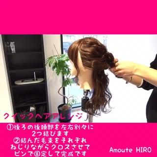 簡単ヘアアレンジ ショート フェミニン 簡単 ヘアスタイルや髪型の写真・画像