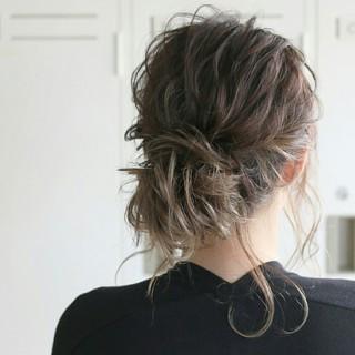 セミロング 結婚式 外国人風 ショート ヘアスタイルや髪型の写真・画像