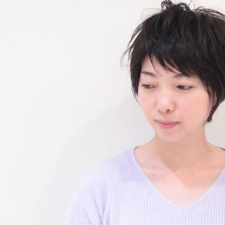 ショートボブ 小顔 似合わせ ショートバング ヘアスタイルや髪型の写真・画像