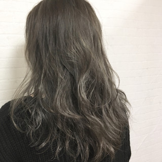 ラベンダーアッシュ グレージュ ハイライト アンニュイ ヘアスタイルや髪型の写真・画像 ヘアスタイルや髪型の写真・画像