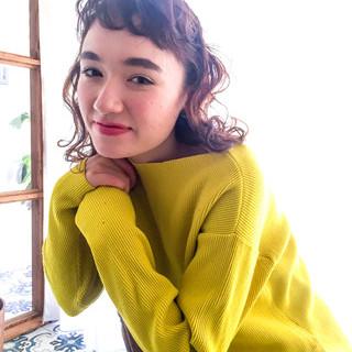 ヘアアレンジ フェミニン ロブ ミディアム ヘアスタイルや髪型の写真・画像