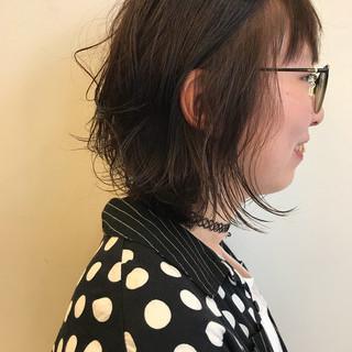 ミディアム ボブ パーマ ゆるふわ ヘアスタイルや髪型の写真・画像