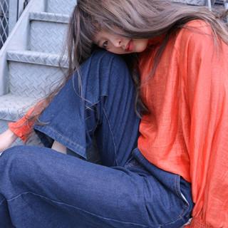 外国人風 ロング ハイライト 大人女子 ヘアスタイルや髪型の写真・画像