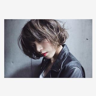 こなれ感 ボブ グラデーションカラー 外国人風 ヘアスタイルや髪型の写真・画像