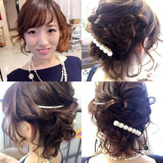 色気 ヘアアレンジ ボブ 編み込み ヘアスタイルや髪型の写真・画像 ヘアスタイルや髪型の写真・画像